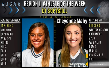 njcaa region ii d1 player of the week cheyenne mahy